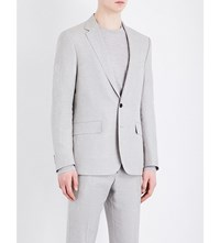 Gieves And Hawkes Regular Fit Linen Wool Blend Jacket Sand