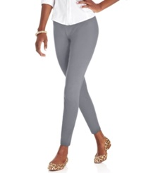 Style And Co. Petite Ankle Length Leggings Charcoal Heather