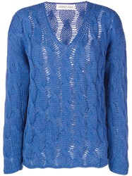 Lamberto Losani Cable Knit Sweater Blue