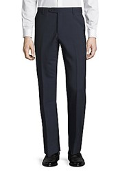 Saks Fifth Avenue Textured Wool Dress Pants Light Grey