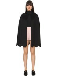 Valentino Wool And Cashmere Cloth Cape