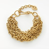 And Or Multi Layered Chain Bracelet Gold