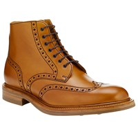 John Lewis And Co. Made In England Leather Brogue Boots Tan