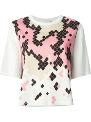 3.1 Phillip Lim Geometric Print T Shirt White