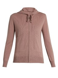 Pepper And Mayne Zip Up Cashmere Hooded Sweater Light Pink