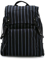 Lanvin Striped Backpack Black