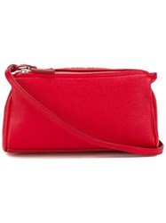 Givenchy Mini Leather Pandora Shoulder Bag Red