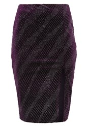 New Look Petite Pencil Skirt Dark Purple