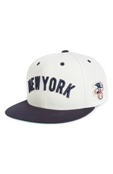 American Needle Men's United Mlb Snapback Baseball Cap White Yankees