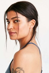 Urban Outfitters Delicate Dot Threader Earring Silver