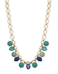 Ivanka Trump Link Chain Necklace Blue