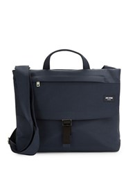 Jack Spade Grid Pattern Nylon Messenger Bag Navy