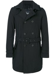 Herno Fitted Tailored Coat Black