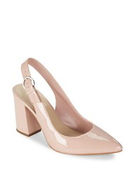 424 Fifth Lisa Patent Slingback Pumps Blush