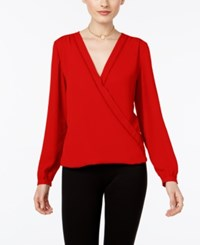 Inc International Concepts Wrap Blouse Only At Macy's Real Red