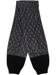 Tibi Soft Quilted Scarf Black