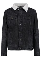 Urban Classics Denim Jacket Black Washed Black Denim