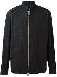 Diesel Zipped Shirt Jacket Black