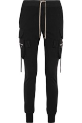 Rick Owens Cotton Tapered Pants Black