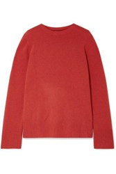 The Row Sibel Oversized Wool And Cashmere Blend Sweater Red