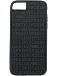 Dsquared2 Logo Embossed Iphone 6 7S Case Black