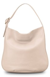 Shinola Birdy Grained Leather Hobo Bag Pink Soft Blush