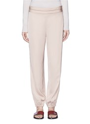 Elizabeth And James 'Pascal' Folded Pleat Waist Elastic Cuff Pants Neutral