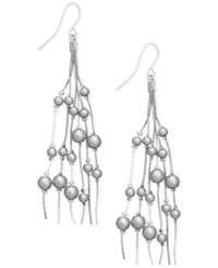 Inc International Concepts Robert Rose For Multi Imitation Pearl Drop Earrings Only At Macy's Silver
