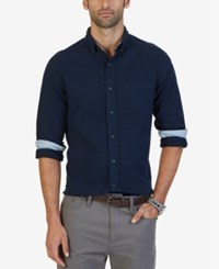 Nautica Men's Classic Fit Flannel Shirt Navy