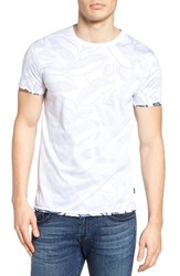 Scotch And Soda Men's Double Layer T Shirt White