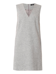 Freda V Neck Silk And Wool Tunic Dress