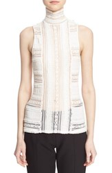 Cinq A Sept Women's 'Antonia' Sleeveless Lace Turtleneck Ivory