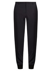 Lanvin Zip Hem Tapered Leg Trousers Navy