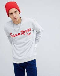 Lee Storm Rider Sweatshirt Sharp Grey Mele