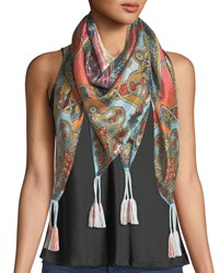 Johnny Was Afterglow Silk Georgette Scarf Multi