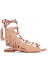 Sigerson Morrison Azzia Fringed Suede Sandals