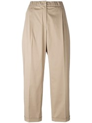 Odeeh Cropped Trousers Brown
