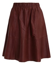 Selected Femme Sfsalta Pleated Skirt Fudge Brown