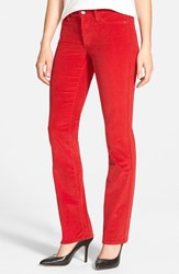 Petite Women's Nydj 'Marilyn' Stretch Straight Leg Corduroy Pants