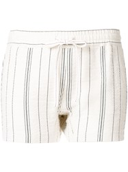 See By Chloe Striped Shorts White