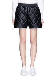Stella Mccartney 'Cesira' Quilted Faux Leather Shorts Black
