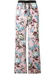 Department 5 Relaxed Drawstring Trousers Pink And Purple