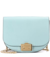 Victoria Beckham Box With Chain Leather Shoulder Bag Blue