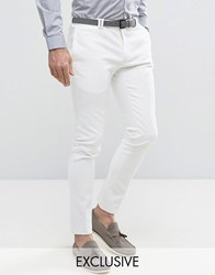 Noak Super Skinny Trousers In Cotton With Stretch White