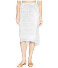 Carve Designs Cameron Skirt White Water Stripe