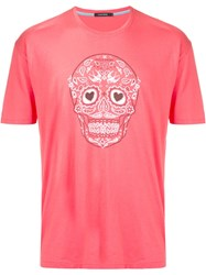 Guild Prime Skull Graphic T Shirt Pink And Purple