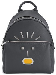 Fendi Faces Backpack Grey