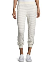 Atm Anthony Thomas Melillo Straight Leg Striped Sweatpants Heather Gray Oatmeal Hthrgry Oatmeal
