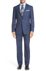 Hart Schaffner Marx Men's Big And Tall Classic Fit Solid Wool Suit Med Blue
