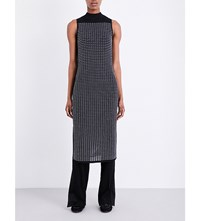 Rag And Bone Ingrid Crochet Overlay Woven Dress Black White